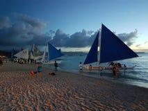 De zonsondergang van Boracay Stock Foto
