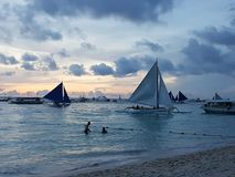 De zonsondergang van Boracay Royalty-vrije Stock Foto