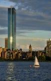De zonsondergang van Boston Royalty-vrije Stock Afbeeldingen