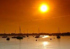 De zonsondergang van Bretagne Stock Afbeelding