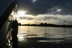 De zonsondergang van Broads Royalty-vrije Stock Afbeeldingen