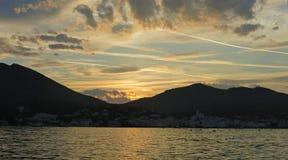 De zonsondergang van Cadaques Royalty-vrije Stock Foto's