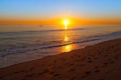 De zonsondergang van Californië Royalty-vrije Stock Afbeelding
