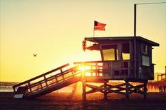 De zonsondergang van Californië Stock Foto