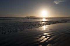 De zonsondergang van Californië Stock Afbeeldingen