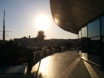 De zonsondergang van Cannes Royalty-vrije Stock Foto's