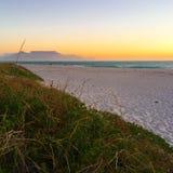 De Zonsondergang van Cape Town stock fotografie