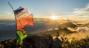 De Zonsondergang van Caracas stock foto