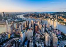 De zonsondergang van Chongqing royalty-vrije stock afbeeldingen