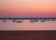 De zonsondergang van Connecticut Stock Afbeelding