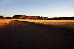 De zonsondergang van Damaraland Stock Afbeeldingen