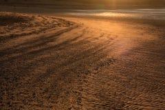 De zonsondergang van de Baai van Budle royalty-vrije stock foto