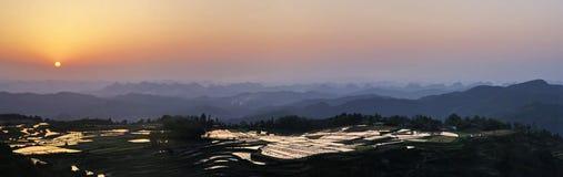 De zonsondergang van de berg Royalty-vrije Stock Foto
