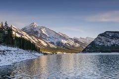 De zonsondergang van de berg Stock Afbeelding