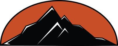 De Zonsondergang van de berg Royalty-vrije Stock Afbeelding