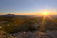 De Zonsondergang van de Berg van Oregon Royalty-vrije Stock Foto's