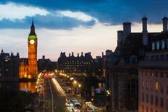 De Zonsondergang van de Big Ben royalty-vrije stock foto