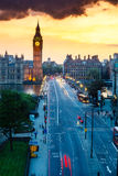 De Zonsondergang van de Big Ben royalty-vrije stock afbeeldingen