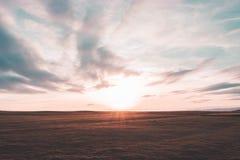 De zonsondergang van de Cleeveheuvel Stock Afbeelding