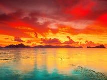 De zonsondergang van de fantasie stock afbeeldingen