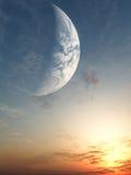 De zonsondergang van de fantasie vector illustratie