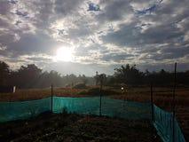 De zonsondergang van de gebiedsmening Royalty-vrije Stock Afbeeldingen