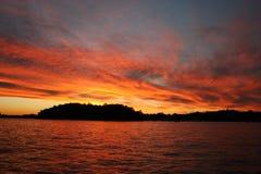 De Zonsondergang van de Haven van Sydney stock afbeelding