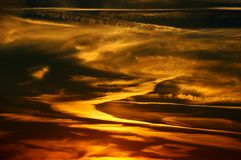 De zonsondergang van de hemel stock foto's