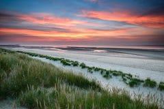 De zonsondergang van de Holkhambaai in Norfolk Royalty-vrije Stock Fotografie