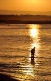 De Zonsondergang van de Hoofden van Noosa - Queensland, Australië Royalty-vrije Stock Foto's