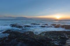 De zonsondergang van de lijstberg royalty-vrije stock fotografie