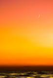 De Zonsondergang van de maan Stock Afbeeldingen