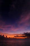 De zonsondergang van de Maldiven Stock Afbeelding