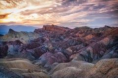 De zonsondergang van de monumentenvallei Stock Foto's