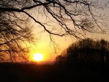 De zonsondergang van de mysticus Royalty-vrije Stock Afbeeldingen