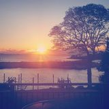 De zonsondergang van de mysticus royalty-vrije stock foto's