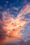 De Zonsondergang van de onweerswolk Stock Foto