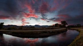 De Zonsondergang van de Owensvallei Stock Afbeelding