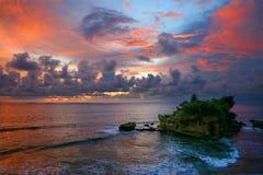 De zonsondergang van de Partij van Tanah. Stock Foto's