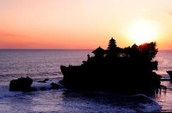De Zonsondergang van de Partij van Tanah stock foto