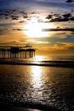 De zonsondergang van de pijler Royalty-vrije Stock Fotografie