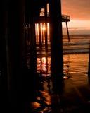 De Zonsondergang van de pijler Royalty-vrije Stock Afbeeldingen