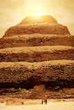 De Zonsondergang van de piramide Stock Afbeelding