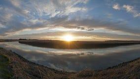 De zonsondergang van de Tarwinrivier Royalty-vrije Stock Foto