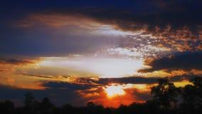De zonsondergang van de tijdtijdspanne stock videobeelden