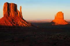 De zonsondergang van de Vallei van het monument Royalty-vrije Stock Fotografie
