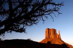 De zonsondergang van de Vallei van het monument stock foto