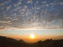 De Zonsondergang van de Vallei van Simi Stock Afbeeldingen