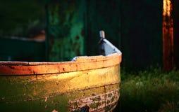 De zonsondergang van de visser Royalty-vrije Stock Fotografie