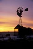 De Zonsondergang van de winter Royalty-vrije Stock Afbeeldingen